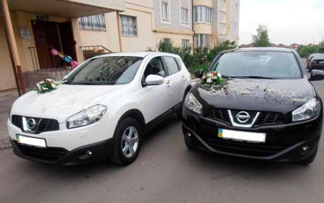 Аренда Nissan Qashqai на свадьбу Полтава