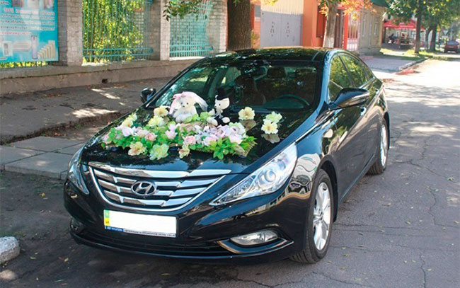 Аренда Hyundai Sonata на свадьбу Полтава