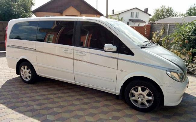 Аренда Микроавтобус Mercedes Viano Long на свадьбу Полтава