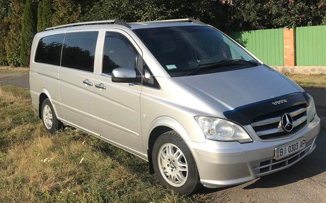 Аренда Микроавтобус Mercedes Vito на свадьбу Полтава